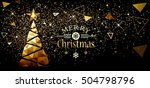 christmas and new year design... | Shutterstock .eps vector #504798796