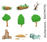 natural landscape objects set... | Shutterstock .eps vector #504799792