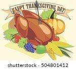 organic farm chicken turkey... | Shutterstock .eps vector #504801412