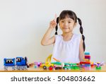 child playing toys. | Shutterstock . vector #504803662