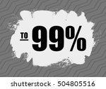 scratch card with sale up to ... | Shutterstock .eps vector #504805516