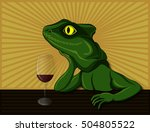 lizard dreaming and drinking...   Shutterstock . vector #504805522