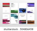 geometric background template... | Shutterstock .eps vector #504806458