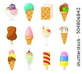 collection of 12 vector ice... | Shutterstock .eps vector #504806842