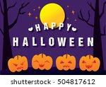 trick or treat halloween day... | Shutterstock .eps vector #504817612