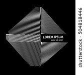 logo striped square. vector | Shutterstock .eps vector #504818446