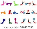set of fitness icons  pilates ... | Shutterstock .eps vector #504832858