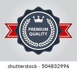 high quality badge. premium... | Shutterstock .eps vector #504832996