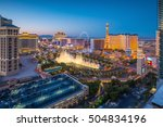 Stock photo aerial view of las vegas strip in nevada as seen at night usa 504834196