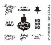 merry christmas card design | Shutterstock .eps vector #504835162