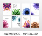 geometric background template... | Shutterstock .eps vector #504836032