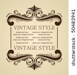 vector luxury vintage for... | Shutterstock .eps vector #50483941