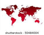 map of world or planet earth in ... | Shutterstock . vector #50484004