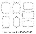 empty frame vector symbol icon... | Shutterstock .eps vector #504840145