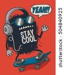 skater monster | Shutterstock .eps vector #504840925