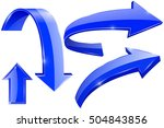 blue arrows. web shiny icons.... | Shutterstock . vector #504843856