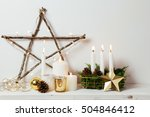 christmas decoration with... | Shutterstock . vector #504846412