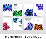 geometric background template... | Shutterstock .eps vector #504850936