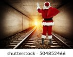 Santa Claus In Tunnel And Ligh...