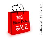 black friday sale bag vector | Shutterstock .eps vector #504855472