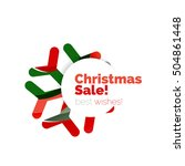 christmas and new year...   Shutterstock .eps vector #504861448