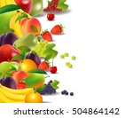 healthy food  fruits and... | Shutterstock .eps vector #504864142