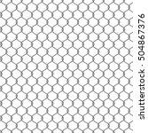 metal chain link fencing.... | Shutterstock .eps vector #504867376