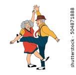 Funny Cartoon Senior Couple...