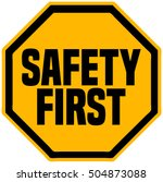 safety first octagonal shape... | Shutterstock .eps vector #504873088