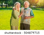 couple of seniors laughing. old ...   Shutterstock . vector #504879715