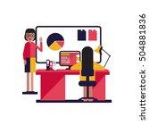 modern lesson | Shutterstock .eps vector #504881836