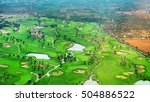 golf course. view from the... | Shutterstock . vector #504886522