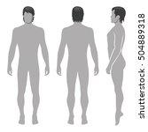fashion man full length... | Shutterstock .eps vector #504889318