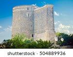 maiden tower in baku old city.... | Shutterstock . vector #504889936