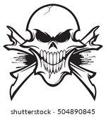 skull and crossbones | Shutterstock .eps vector #504890845