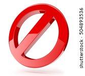 3d prohibition sign template  ... | Shutterstock . vector #504893536