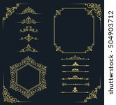 big set of vintage elements.... | Shutterstock . vector #504903712