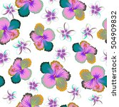 bright hawaiian design with... | Shutterstock .eps vector #504909832