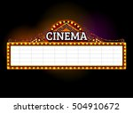 theater sign.cinema las vegas... | Shutterstock .eps vector #504910672