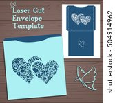 lasercut vector wedding... | Shutterstock .eps vector #504914962