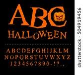 halloween font. curves of... | Shutterstock . vector #504919456
