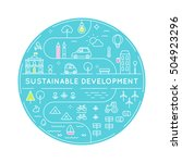 sustainable development and...   Shutterstock .eps vector #504923296
