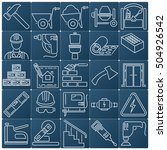 set of 25 construction and... | Shutterstock .eps vector #504926542