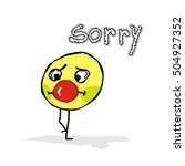 one little clown is saying sorry | Shutterstock .eps vector #504927352