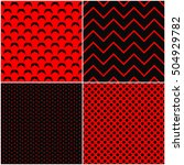 collection of seamless patterns ... | Shutterstock .eps vector #504929782