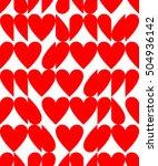 heart shape seamless pattern... | Shutterstock .eps vector #504936142