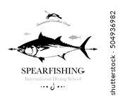 sea fishing logo. large tuna...   Shutterstock .eps vector #504936982
