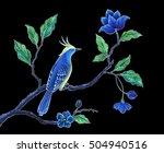 oriental floral design... | Shutterstock . vector #504940516