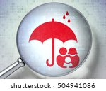 security concept  magnifying... | Shutterstock . vector #504941086