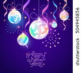 christmas and new year... | Shutterstock .eps vector #504945856